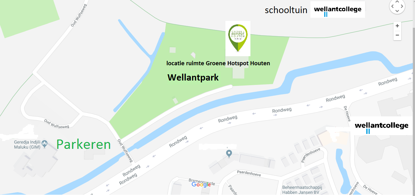 Routebeschrijving naar het Wellantpark Houten